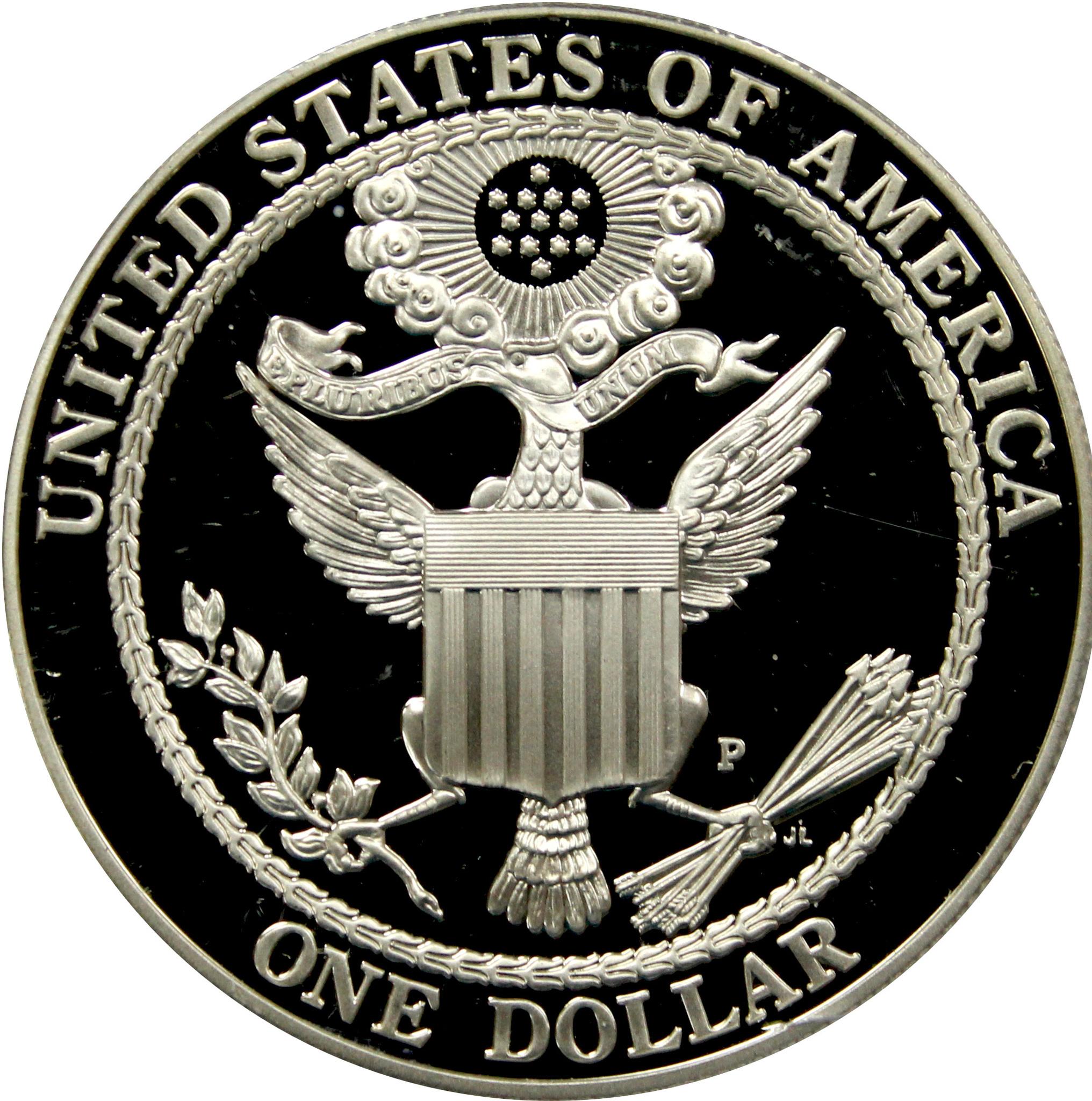 1 доллар 2008 (P) (Американский белоголовый орлан) PROOF Серебро