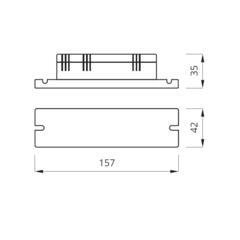 Блок аварийного питания для люминесцентных ламп 6-80W NEXT – размеры