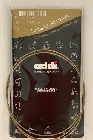 Спицы, круговые, супергладкие, №4, 100 см. ADDI Германия арт.105-7/4-100