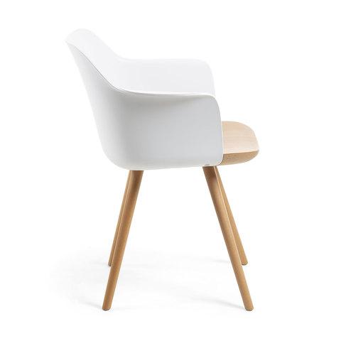 Кресло KLAM пластиковое белое