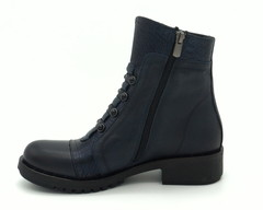 Комбинированные кожаные ботинки с декоративным элементом