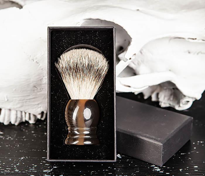 RAZ487 Помазок для бритья из барсучего волоса (Silvertip) фото 02