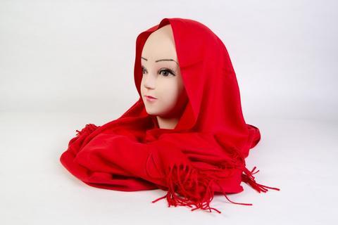 Палантин женский красный 70х180 см PS1889R