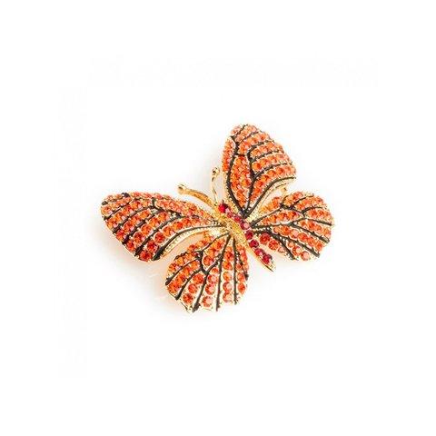 Брошь Бабочка FAN-06048 BR