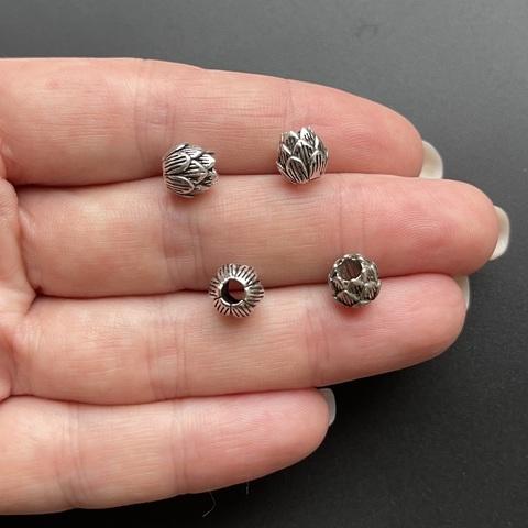 Бусина Бутон 7,5х7,5 мм серебро 925