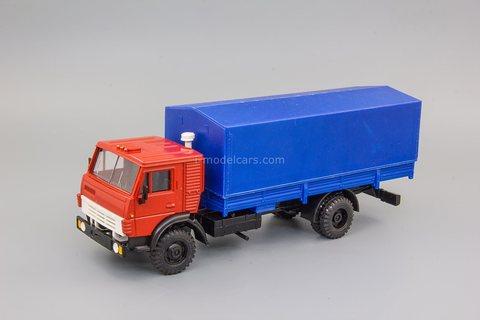 KAMAZ-5325 flatbed truck with tarpaulin Elecon 1:43