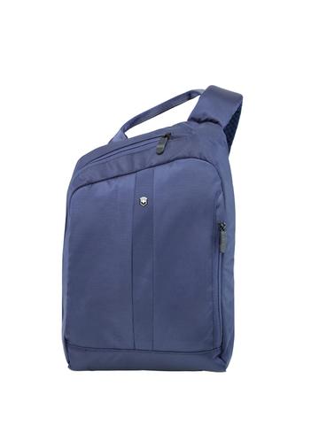 Рюкзак Victorinox Gear Sling с защитой w/RFID, с одним плечевым ремнём, синий, 24x10x34 см, 8 л