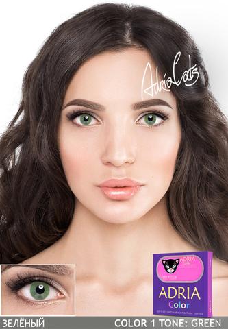 Набор Adria Color: линзы Adria Color 1 tone + раствор DenIQ 100 ml
