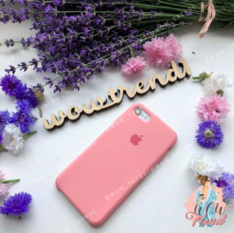 Чехол iPhone 7/8 Silicone Case /light pink/ розовый 1:1