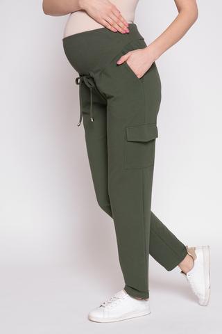 Спортивные брюки для беременных 12355 хаки