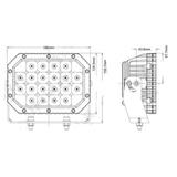 Светодиодная фара  6 дальнего  света Аврора  ALO-L-6-P7K ALO-L-6-P7K фото-3