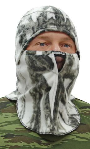 Шапка- маска Буран тк.Флис цв. Белый Лес
