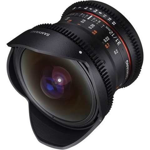 Объектив Samyang 12mm T3.1 VDSLR ED AS NCS Fisheye Black для Sony E