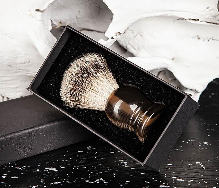 RAZ487 Помазок для бритья из барсучего волоса (Silvertip) фото 03