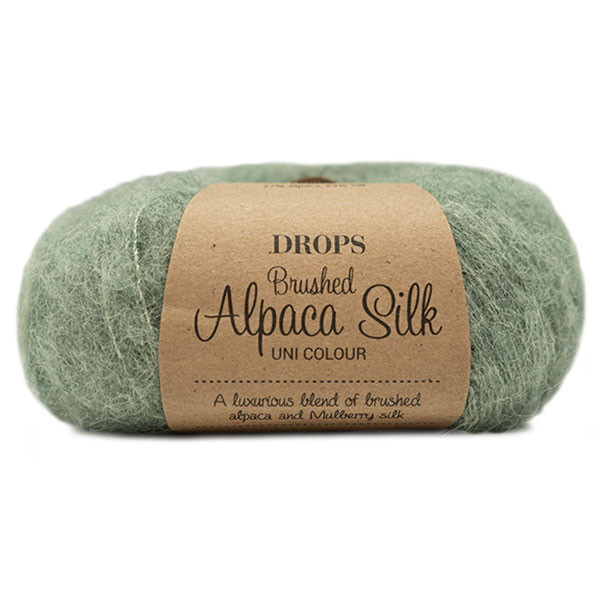 Пряжа Drops Brushed Alpaca Silk 21 зеленый шалфей