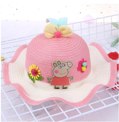 Розовая Свинка панамка для девочки