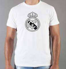 Футболка с принтом FC Real Madrid (ФК Реал Мадрид) белая 0010