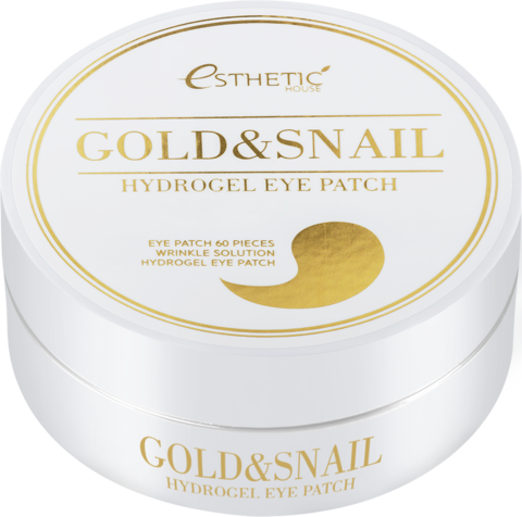 ESTHETIC HOUSE Гидрогелевые патчи для глаз ЗОЛОТО/УЛИТКА Gold&Snail Hydrogel Eye Patch, 60 шт