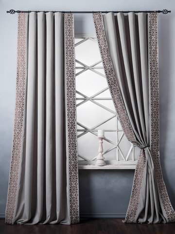 Комплект штор Капри бежево-серый