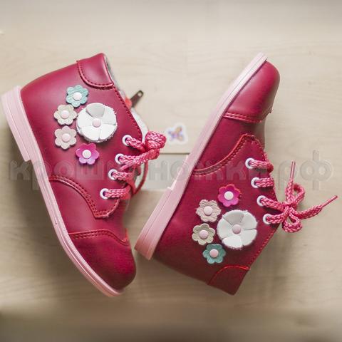 Ботинки, красные, цветки, Римал (ТК Луч)