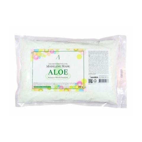 Anskin Original Aloe Modeling Mask маска альгинатная с экстрактом алоэ успокаивающая (пакет)