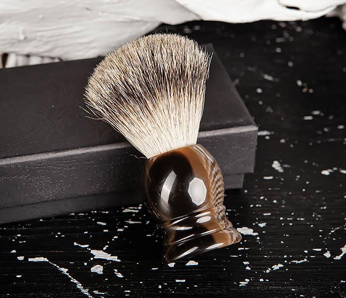 RAZ487 Помазок для бритья из барсучего волоса (Silvertip) фото 04