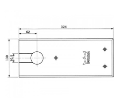 Крышка для напольного дверного доводчика BTS84 Dormakaba