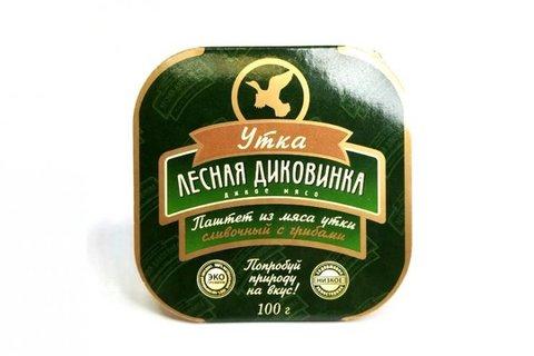 Паштет из мяса утки сливочный с грибами, 100г eco-apple.ru