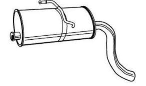 глушитель Citroen Berlingo/Peugeot Partner 1.8D; 1.9D 96