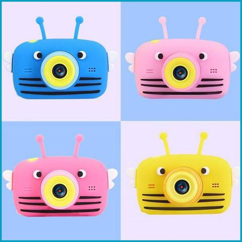 Детский фотоаппарат пчелка Розовый