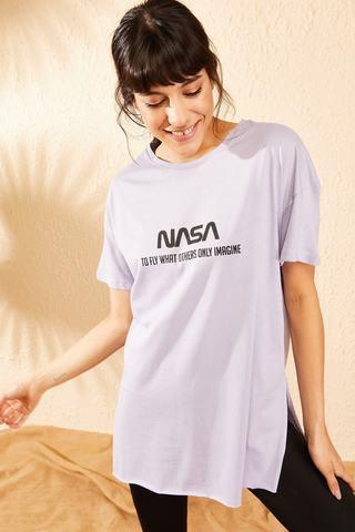 Qadın üçün bənövşəyi t-shirt 10061024