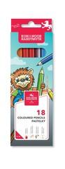 Карандаши цветные LION 3553, 18 цветов