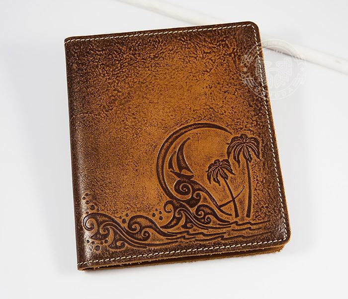 BY07-05-03 Вместительная визитница кардхолдер из натуральной кожи «На Море» на 36 карт