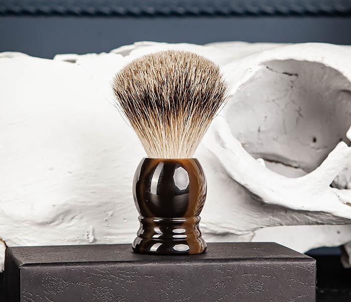 RAZ487 Помазок для бритья из барсучего волоса (Silvertip) фото 05
