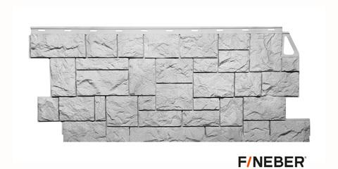 Фасадная панель Fineber Камень дикий мелованный белый 1117х463 мм