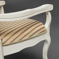 Кресло Fiona2 ( FN-AC2 ) —  ivory white (слоновая кость) (2-5), ткань бежевая полоска TX-1B