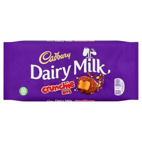 Шоколад Cadbury Dairy Milk Crunchie bits 200 гр