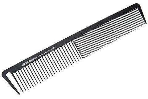 Расческа для стрижки Harizma 21,5см широкая карбон h10657