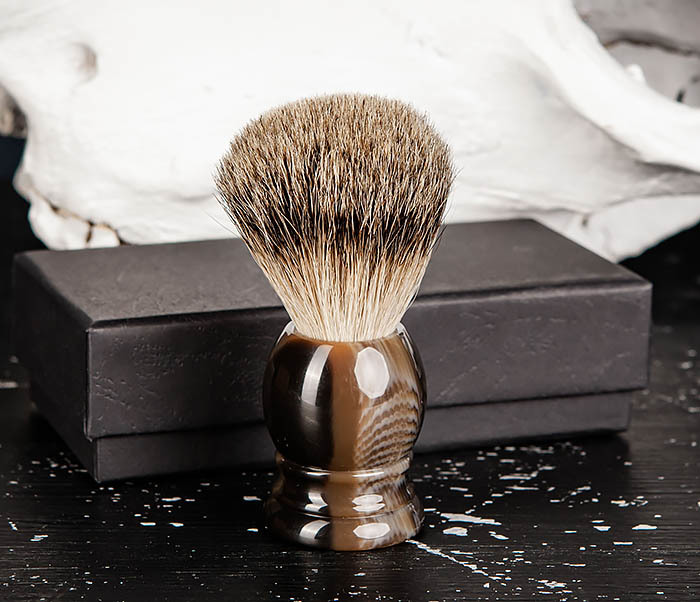 RAZ487 Помазок для бритья из барсучего волоса (Silvertip) фото 06