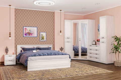 Кровать Бьянка 90 11.05 Моби 160х200 ясень анкор MX 1879, ясень анкор арктик
