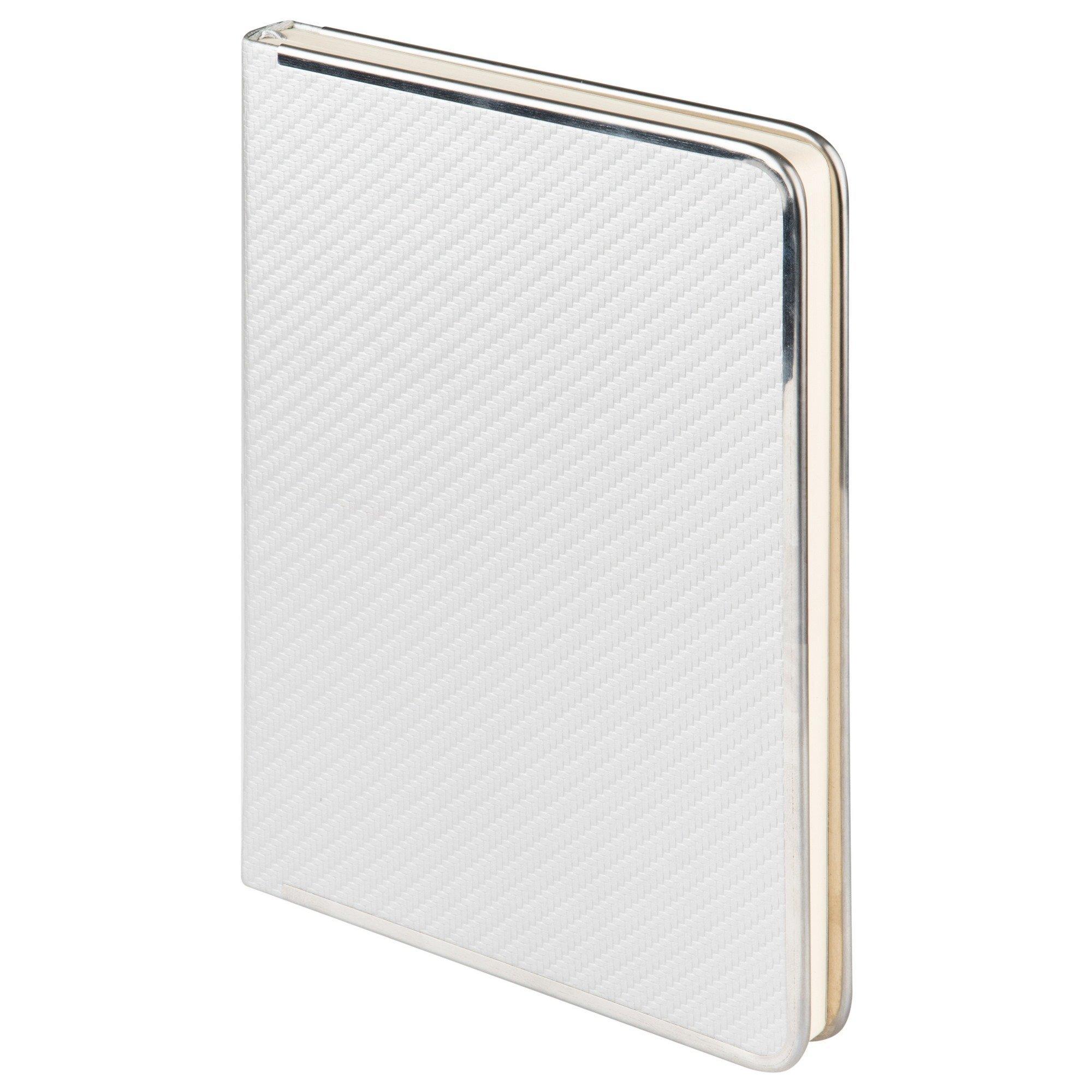 Ежедневник недатированный, Portobello Trend, Carbon , 145х210, 256 стр, серебро