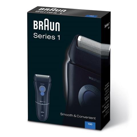 Электробритва Braun 130 Series 1, от сети, черная