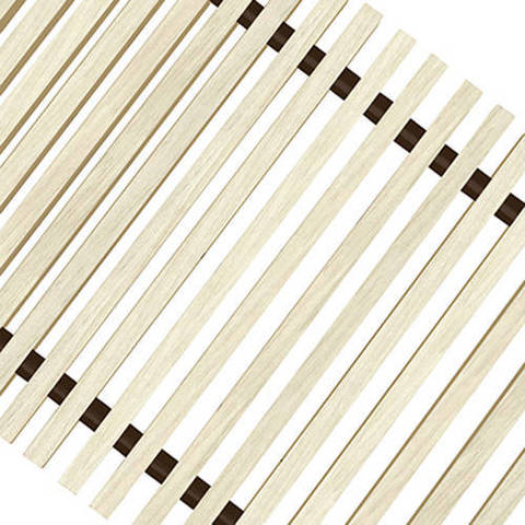 Решетка поперечная деревянная Techno шириной 300 мм, длина 800 мм (цвет светлое дерево)