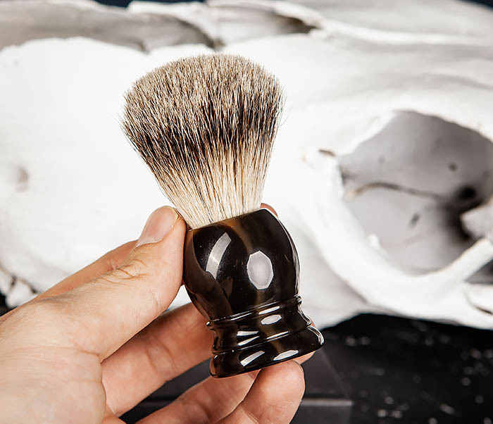 RAZ487 Помазок для бритья из барсучего волоса (Silvertip) фото 07