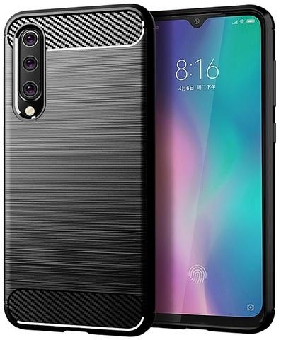 Чехол для Xiaomi Mi 9 SE цвет Black (черный), серия Carbon от Caseport