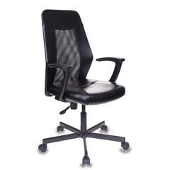 Кресло офисное Easy Chair 225 черное (искусственная кожа/сетка/металл)