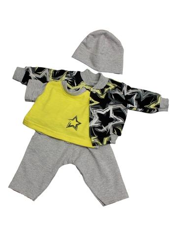Костюм с курткой бомбером - Желтый. Одежда для кукол, пупсов и мягких игрушек.