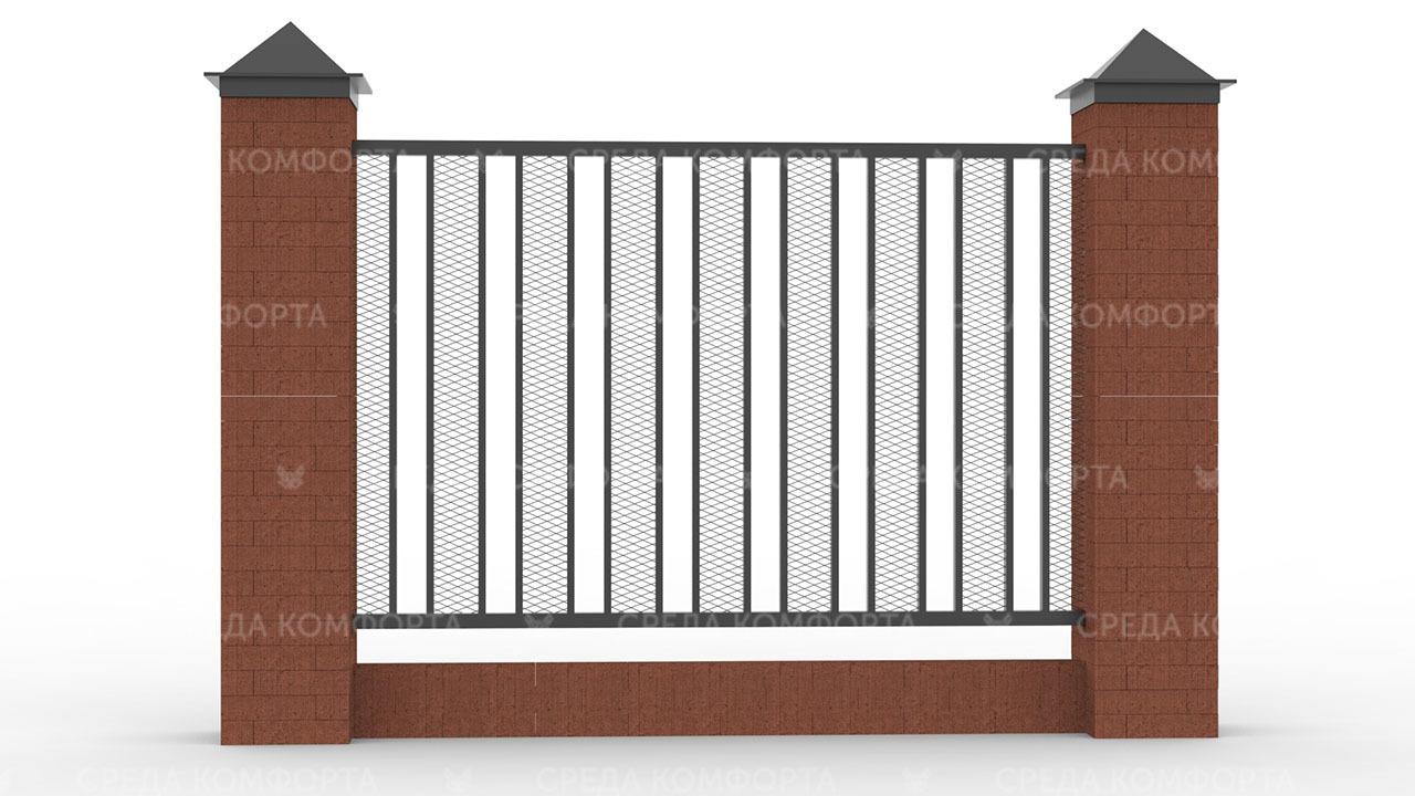 Забор из сетки рабицы ZBR0188