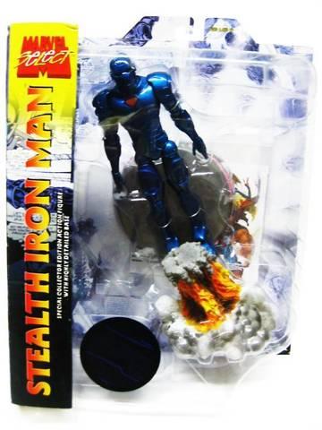 Марвел Селект фигурка Железный Человек Голубая броня — Marvel Select Stealth Iron Man Exclusive Blue Armor Suit