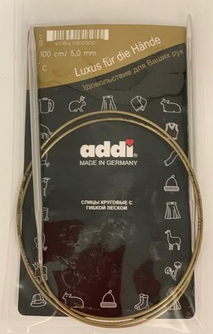 Спицы, круговые, супергладкие, №5, 100 см. ADDI Германия арт.105-7/5-100